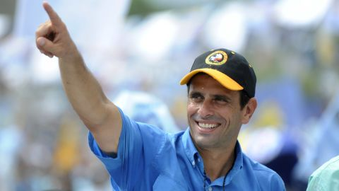 """""""Venezuelans are looking for a new way,"""" Capriles told his supporters. """"It's been 14 years of the same government. This government has already completed its cycle and has nothing more to offer. They're only recycling promises."""""""