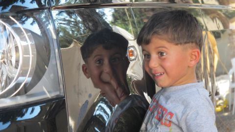 Officially, more than 93,000 refugees -- many of them children -- currently live in a network of camps spread along Turkey's long border with Syria.