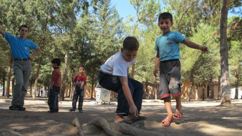 Syrian refugees living in the Reyhanli Refugee Camp in Hatay Province of Turkey.
