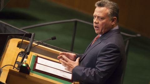Jordan's King Abdullah II addresses the U.N. General Assembly on September 25 in New York City.