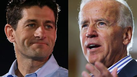 Republican vice presidential candidate Paul Ryan, left, will debate Vice President Joe Biden in Danville, Kentucky, on Thursday, October 11.