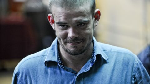 Dutch national Joran Van der Sloot arrives for a hearing at the Lurigancho prison in Lima on January 11, 2011.