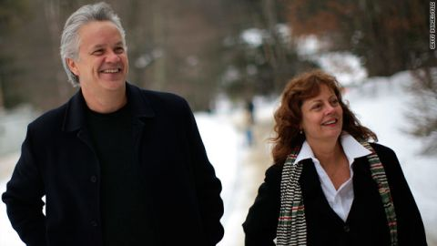 """Susan Sarandon and Tim Robbins split in 2009 after 23 years together. The pair, who met on the set of """"Bull Durham,"""" have two sons but never married."""