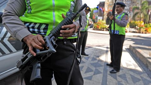 Security was stepped up in Kuta, Bali ahead of events to mark the 10 year anniversary of the 2002 terror attacks in which 202 people died.