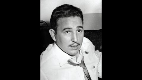 A portrait of Castro in New York in 1955. He was in exile after being released as part of a general amnesty for political prisoners in Cuba. Two years earlier, he and about 150 others staged an unsuccessful attempt to overthrow the regime of Fulgencio Batista.