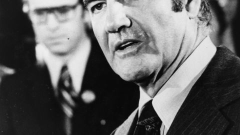 Sen. George McGovern ran for president in 1972 against incumbent Republican Richard Nixon.
