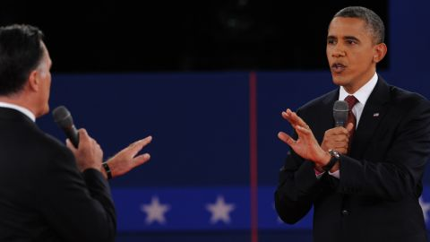 U.S. President Barack Obama and Republican presidential candidate Mitt Romney square off.