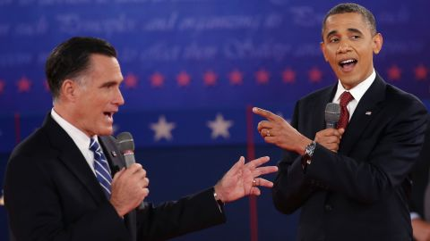President Barack Obama and former Gov. Mitt Romney differed sharply on the issues in their second debate.