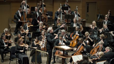 Music Director Osmo Vanska leads the Minnesota Orchestra during a peformance in Minneapolis' Orchestra Hall.