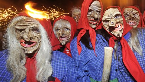 A group of demons and witches gather for a night of havoc ... Are adults taking Halloween a little more seriously nowadays?