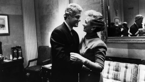 The Clintons share a laugh on Capitol Hill in 1993.
