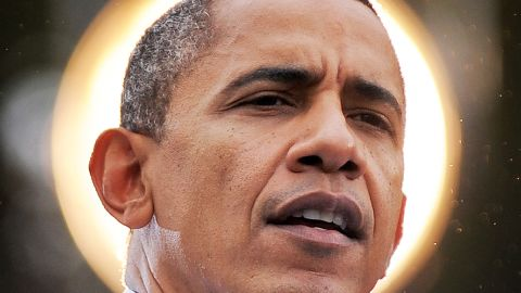 U.S. President Barack Obama speaks during a campaign rally at George Mason University in Fairfax, Virginia, on Friday.
