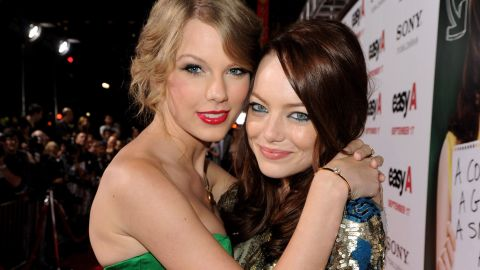 """""""I'm the kind of girl who needs to tell her friends everything. I've developed this really close-knit group of girls. ... I met Emma (Stone, pictured) when I was 17, and I met Selena (Gomez) when I was 18. ... Somehow through all of it, we've stayed close. """" -- Glamour, 2012"""