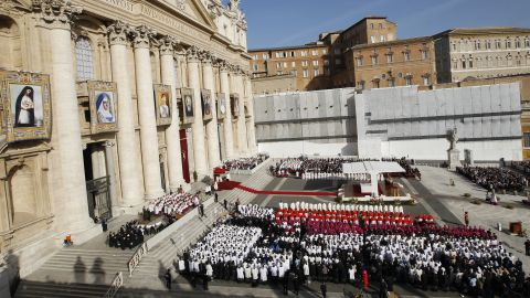 Pope Benedict XVI named seven new saints at Mass on Sunday, October 21, at St. Peter's Square in Vatican City.  The seven new saints are Kateri Tekakwitha and Marianne Cope of the United States, Jacques Berthieu of France, Pedro Calungsod of the Philippines, Anna Schaeffer of Germany, Giovanni Battista Piamarta of Italy and Maria del Carmen of Spain.