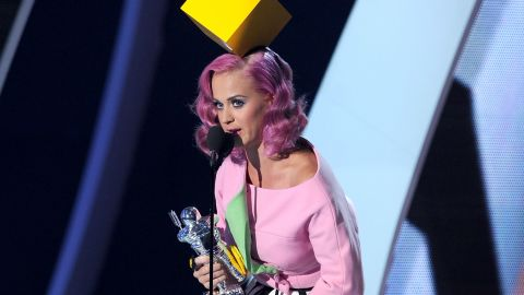 Proving she's a fan of cubism, the singer picks up the award for video of the year at the MTV Video Music Awards in August 2011.