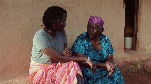 Auma with her paternal grandmother Sarah -- a relative she shares with President Barack Obama.