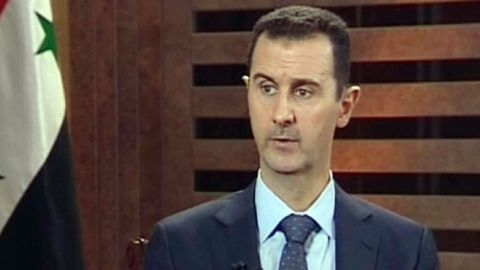 """A grab from Addounia pro-regime Syrian TV on August 29, 2012 shows Syrian President Bashar al-Assad speaking during an exerpt of an interview in Damascus to be broadcast later in the day. Syria needs more time to """"win the battle"""" raging across the country, Assad said in the television interview. AFP PHOTO/HO/ADDOUNIA TV == RESTRICTED TO EDITORIAL USE - MANDATORY CREDIT """"AFP PHOTO / HO / ADDOUNIA TV"""" NO MARKETING NO ADVERTISING CAMPAIGNS - DISTRIBUTED AS A SERVICE TO CLIENTS"""