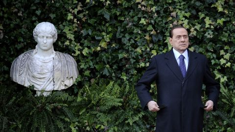 Berlusconi visits Villa Madama in Rome in January 2011.