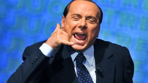 """Former Italian Prime Minister and media tycoon<a href=""""https://www.cnn.com/2018/01/28/europe/berlusconi-italy-comeback-intl/index.html""""> Silvio Berlusconi has emerged as an unlikely kingmaker</a> in Italy's general elections in March 2018. Affectionately known as """"Il Cavaliere"""" (The Knight), Berlusconi was expelled from the Italian Parliament in 2013 and is currently barred from public office after convictions for bribery and tax fraud. He's pictured here in 2009."""