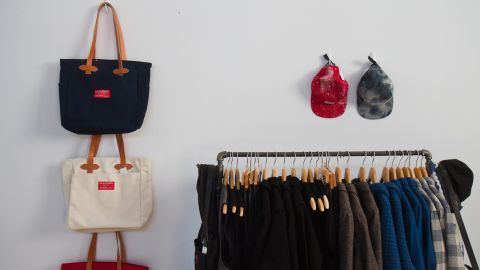 """<a href=""""http://www.shoppenelopes.com/"""" target=""""_blank"""" target=""""_blank"""">Penelope's</a> pop-up boutique displays a variety of American-made brands at NorthernGRADE. The Chicago retail store recently expanded its offerings of American-made products based on customer demand."""