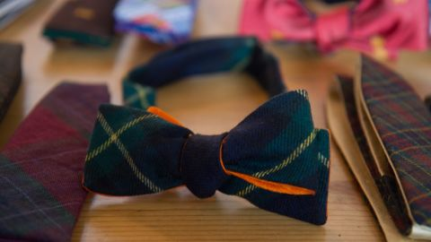 """All of <a href=""""http://pierreponthicks.com/"""" target=""""_blank"""" target=""""_blank"""">Pierrepont Hicks</a>' colorful ties and bowties are made in New York. The husband-wife team behind Pierrepont Hicks started NorthernGRADE in 2010 with iconic leather accessory brand <a href=""""http://www.jwhulmeco.com/"""" target=""""_blank"""" target=""""_blank"""">J.W. Hulme</a>."""