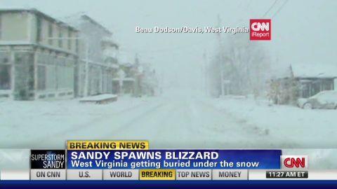 exp Sandy spawns blizzard in West Virginia_00002001