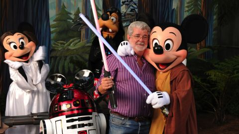 """""""Star Wars"""" creator and filmmaker George Lucas at Disney's Hollywood Studios theme park. Lucas sold his Lucasfilm empire to Disney in 2012 for $4 billion."""