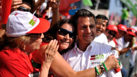 Enrique Pena Nieto (R), Mexico's president-elect, has pledged to focus more on reducing violence -- and less on catching drug cartel leaders -- and blocking drugs from reaching the United States.