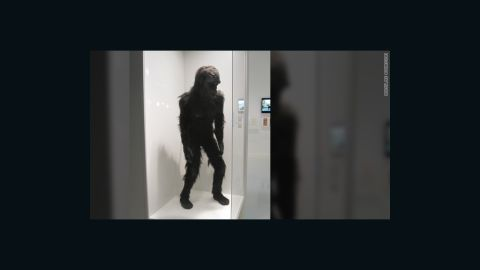 """The costume for """"Moonwatcher,"""" the ape from """"the dawn of man"""" who threw that famous bone toward the heavens in Kubrick's sci-fi film, """"2001: A Space Odyssey."""""""