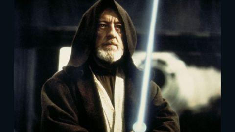 Jedi Master Obi-Wan Kenobi trains Luke in the ways of the Force.