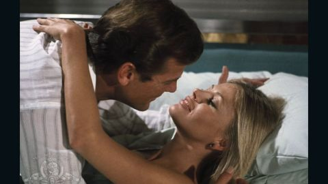 """Bond's ditzy assistant Mary Goodnight, played by Britt Ekland, eventually helps save the day in the 1974 flick """"The Man with the Golden Gun."""""""