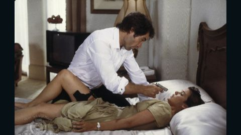 """Bond girl Pam Bouvier, played by Carey Lowell, works as a pilot and assists Bond in his mission in 1989's """"License to Kill."""""""