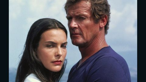 """After witnessing her parents' assassination, Carole Bouquet's Melina Havelock teams up with Bond and eventually saves his life. Instead of donning an iconic bikini, Havelock bares it all to go skinny-dipping with 007 in 1981's """"For Your Eyes Only."""""""
