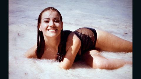 """After Bond saved Domino Derval, played by Claudine Auger, from drowning in 1965's """"Thunderball,"""" she returned the favor by shooting Largo in the back before he could kill Bond. Derval is one Bond girl who is rarely out of a bikini."""