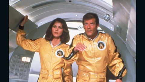 """Space scientist/astronaut/CIA agent Holly Goodhead, played by Lois Chiles, flies with Bond to Drax's space station in 1979's """"Moonraker."""""""