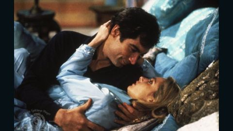 "Bond shoots a gun out of cellist Kara Milovy's hands in 1987's ""The Living Daylights."" Maryam d'Abo played Milovy opposite Timothy Dalton's Bond."