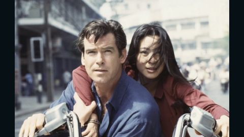 """Another Bond girl who claims to be immune to Bond's charm, Chinese agent Wai Lin, played by Michelle Yeoh, eventually falls for him in 1997's """"Tomorrow Never Dies."""""""