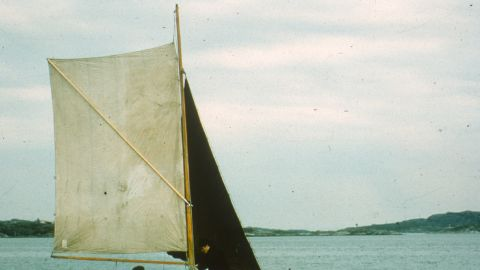 """Yrvind was inducted into the Museum of Yachting's Hall of Fame in 1988, for his many solo expeditions. In 1968 he sailed four meter boat """"Anna"""" (pictured) from Sweden to England."""