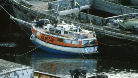 """The boat was named Bris, meaning """"breeze"""" in Swedish. """"I built her in 1972 and sailed her until 1982, criss-crossing the Atlantic many times,"""" Yrvind said."""