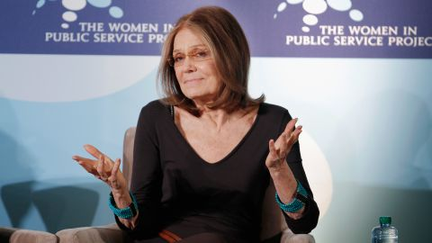 Author and feminist icon Gloria Steinem participates in a discussion during a Women in Public Service event in 2011.