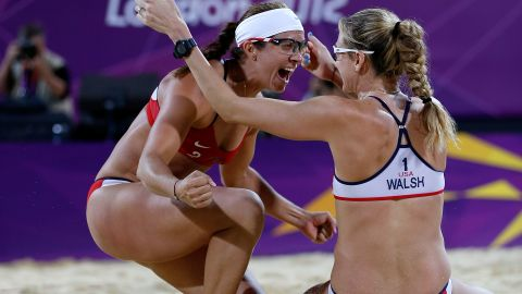 """As <a href=""""http://sportsillustrated.cnn.com/2012/olympics/2012/writers/phil_taylor/08/08/may-treanor-walsh-gold-medal-beach-volleyball/index.html#ixzz2BMchvfew"""">Sports Illustrated writer Phil Taylor says</a>, """"With all due respect to the other teams who compete in beach volleyball ... there is the duo of Misty May-Treanor and Kerri Walsh Jennings, and there is everybody else."""" May-Treanor, left, and Walsh Jennings went into retirement after the 2008 Beijing Olympics. During their time off, May-Treanor tore her Achilles tendon while rehearsing for """"Dancing With the Stars,"""" and Walsh Jennings gave birth -- twice. Still, the duo reunited to dominate the 2012 Olympics, losing only one set in their quest for gold."""