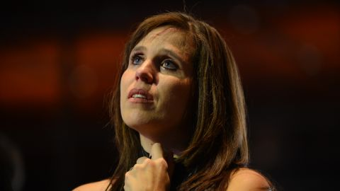 A Romney supporter teared up as the presidency seemed to slip out of grasp.