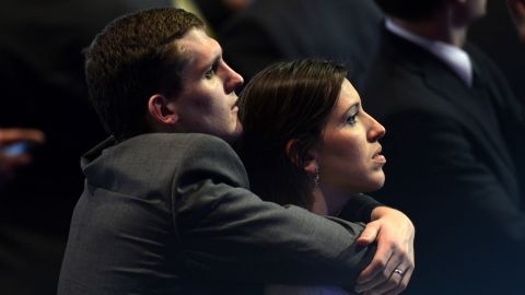 Romney supporters sought comfort in each other as his chances for the presidency faded.