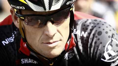 Seven-time Tour de France winner, US Lance Armstrong rides in a training session after leaving the hotel hosting the US cycling team Radioshack on July 1, 2010 in Ridderkerk, outside Rotterdam. The 97th edition of the Tour de France cycling race will start in two days in Rotterdam, the biggest European port. AFP