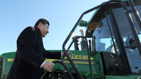 MAXWELL, IA - FEBRUARY 16: China's Vice President Xi Jinping of the People's Republic of China visits the farm of Rick and Martha Kimberley February 16, 2012 near Maxwell, Iowa. Xi , who is seen as China's likely next leader, is on a tour of the U.S. that will send him to California next. (Photo by Steve Pope/Office of the Iowa Governor via Getty Images)