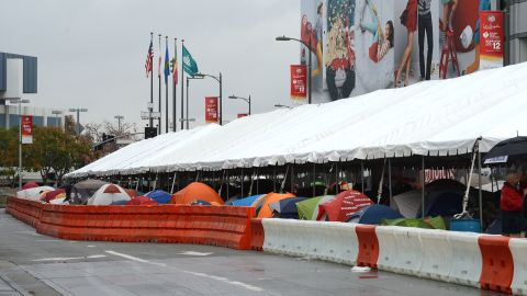Tent city lives up to its name.