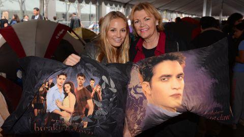 """More fans show off """"Twilight"""" paraphernalia."""