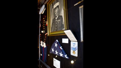 Davis' photo and Medal of Honor are displayed at the Tubman African American Museum in Macon.