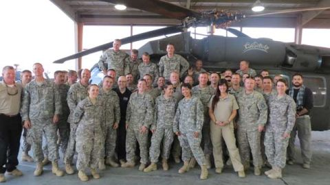 Supporting troops embody the true ingredients of heroism, Connelly says.