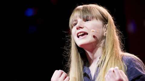Amy O'Toole, a student who took part in the Blackawton Bees science project, speaks at TED Global 2012.